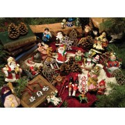 Puzzle Cobble Hill - Christmas Ornaments, 275 piese XXL (44608)