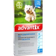 BDV Advantix spot on 1,0ml 4-10kg között kutya auv - 4x