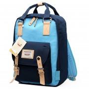 Mochila Casual Y De Colores E-Hot Para Unisex - Azul Doble