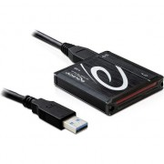 Card reader delock USB 3.0 > All in One(SD, MS, CF, M2), negru (91704)