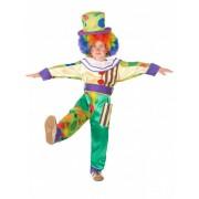 Vegaoo Lustiges Clown Kostüm für Jungen bunt
