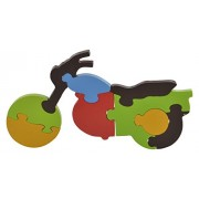 Skillofun Wooden Take Apart Puzzle Large - Motorcycle, Multi Color