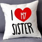 GRABADEAL Beautiful I Love My Sister Cushions Gift