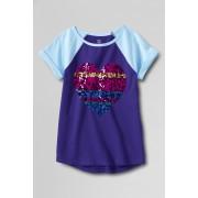ランズエンド LANDS' END ガールズ・グラフィック/ラグランスリーブ・ヘムT/半袖/Tシャツ【キッズ・子供服・女の子】(バイオレットパープルハート)