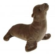 Merkloos Zeeleeuwen speelgoed artikelen zeeleeuw knuffelbeest bruin 37 cm
