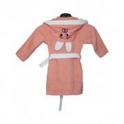 """Детски халат с ушички """"Pink Bunny"""" - 100% Памук"""