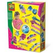 Детски комплект Направи си сам - Бижута с брокат, SES, 0814666