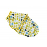 Baby Wrap Dots and Flowers Green