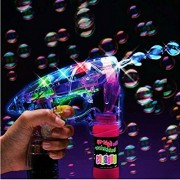 AST Works LED Bubble Gun Flashing Light up Bubbles Blaster Squirt Blower Shooter Favor h*