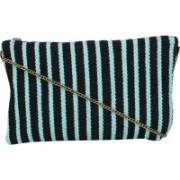 Diwaah Evergreen Handmade Strips Pattern Rug Zip Top Clutch Purse-Sling Bag-Cross Body Bag (Multicolored) Multicolor Sling Bag