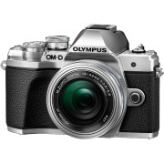 OLYMPUS Hybride camera E-M10 Mark III Zilver + 14-42 mm Pancake Zilver (V207072SE000)