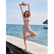 Boden Kräftiges Blau, Getupftes Paisley-Muster Eze Bikinihöschen zum Umschlagen Damen Boden, 40, Blue