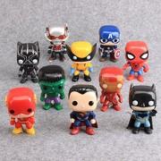 Smart Buy Wolverine PVC Marvel Avengers Super Heroes Superman, Batman, Spiderman, Captain America, Iron Man and Hulk Toys (Green, 4inch/10cm)