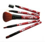 Babji Multi-Design Pattern Professional 5 Pcs Make Up Brush Set (Pack of 5)