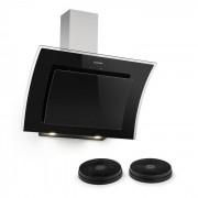 Klarstein Sabia 90, hotă de aspirare de 90 cm, incluzând 2 x filtru de carbon activ, neagră (Set-Sabia90BL-Filter)
