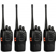 Pack 4 Walkie Talkie UHF Baofeng BF-888S Radio Portatil