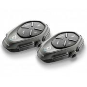 Interphone Tour Bluetooth kommunikationssystem - Double Pack Svart en storlek