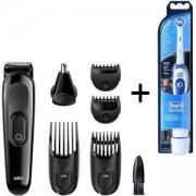 Комплект Тример за лице и коса 6 в 1 Braun MGK3020 + Електрическа четка за зъби Oral-B Pro-Expert