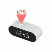 Rádiós Ébresztőóra LCD Projektorral Denver Electronics CRP-717 LED Fehér Fekete MOST 14942 HELYETT 10864 Ft-ért!