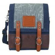 Licence 71195 Jumper Canvas Medium Vertical Messenger Bag Navy LBF10760-BL