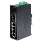 PLANET IP30 Slim Type 4-Port Industrial Ethernet Switch + 1-Port 100Base-FX(SC) (-10 - 60 C)