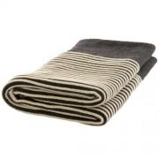 Nord Snow Striped Style Merino Wool Blanket - Dark