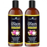 Park Daniel ONION Herbal Hair oil - For Hair Regrowth and Anti Hair Fall Combo pack of 2 bottles of 100 ml(200 ml)