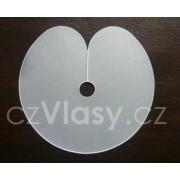 Plastové terčíky k prodloužení vlasů keratinem - 5 ks