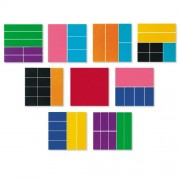 Learning Resources Rainbw Deluxe Fraction Squares