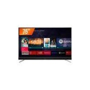Smart TV LED 75`` Ultra HD 4k Semp TCL 75C2US 3 HDMI 2 USB Wi-Fi Integrado Conversor Digital