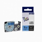 Casio XR-9BU1, 9mm x 8m černý tisk / modrý podklad