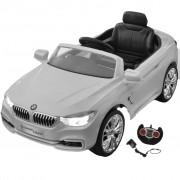 vidaXL Детска кола BMW с акумулаторна батерия и дистанционно, бяла