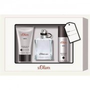 s.Oliver Perfumes masculinos Men Set de regalo Eau de Toilette Spray 30 ml + Shower Gel & Shampoo 75 ml + Deodorant Spray 50 ml 1 Stk.