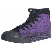 Gothicana by EMP Walk The Line Sneakers paars-zwart