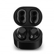 X6 Invisible Mini Wireless Bluetooth Headphone Portable Earbuds with Charger Box for iPhone X/8/8 Plus - Black
