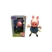 Boneco Grande George Pig Irmão Peppa Cabeça Vinil - Estrela