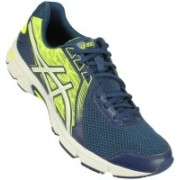 Asics Gel-Impression 8 Men Running Shoes For Men(Blue, Yellow, White)