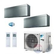 Daikin Duo Split 2.0+2.0 +4.0 kW Stylish Zilver Air Conditioner WiFi R-32 FTXA20AS +FTXA20AS +2MXM40M A+++/A++ 7+7 Btu