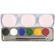 Eulenspiegel ansiktsfärg, 6 färg, mixade färger