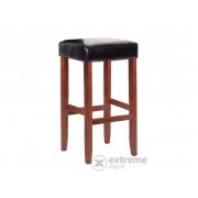Flora drvena barska stolica, smeđa, Dimenzije: 75x39x39 cm