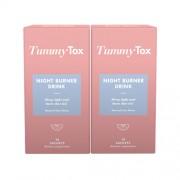 TummyTox Tummy Tox Night Burner drink 1+1 GRATIS. Sapore naturale al lime. 2x 10 bustine
