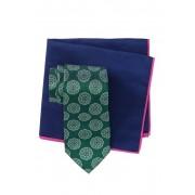 Ted Baker London Silk Melange Medallion Tie Pocket Square Set GREEN