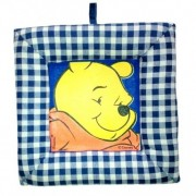 Tablou textil pentru perete Winnie the Pooh, carouri albastru inchis