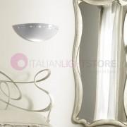 Ceramiche Borso Borgo Di Luce Applique Vaschetta Aperta D.39 In Ceramica Con Cristalli