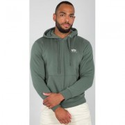 Alpha Industries Alpha Basic Small Logo Felpa Verde 2XL