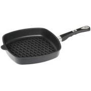 Tigaie grill AMT Gastroguss E285BBQ, 28cm (Negru)