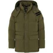 Boss Casual Omer Hooded Down Jacket Dark Green