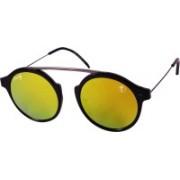 Foxy Round Sunglasses(Orange)
