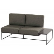 4 Seasons Outdoor Patio platform 2 seater left with 4 cushions