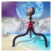 Mini Pulpo Flexible Tripode Soporte Para GoPro Hero6 / 5 / 5 / 4 Sesiones / 4 / 3 + / 3 / 2 / 1, Xiaoyi Y Otras Camaras De Accion
